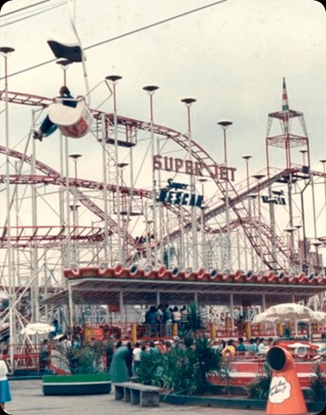 Montanha-russa Super Jet: relembre os brinquedos marcantes do Playcenter
